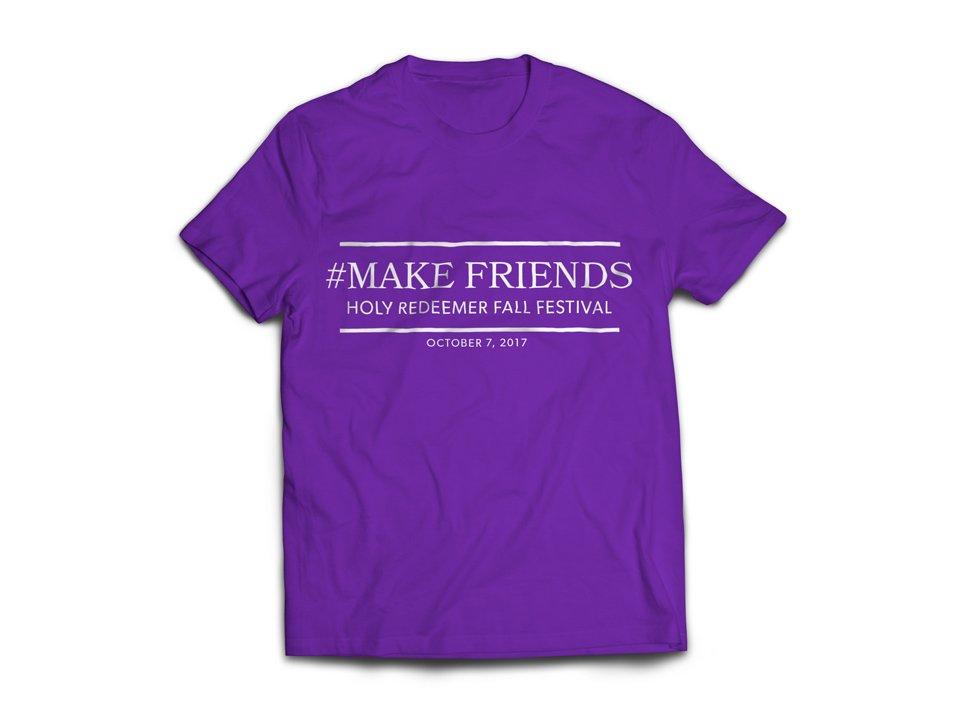 Holy Redeemer T-shirt Design for Fall Festival