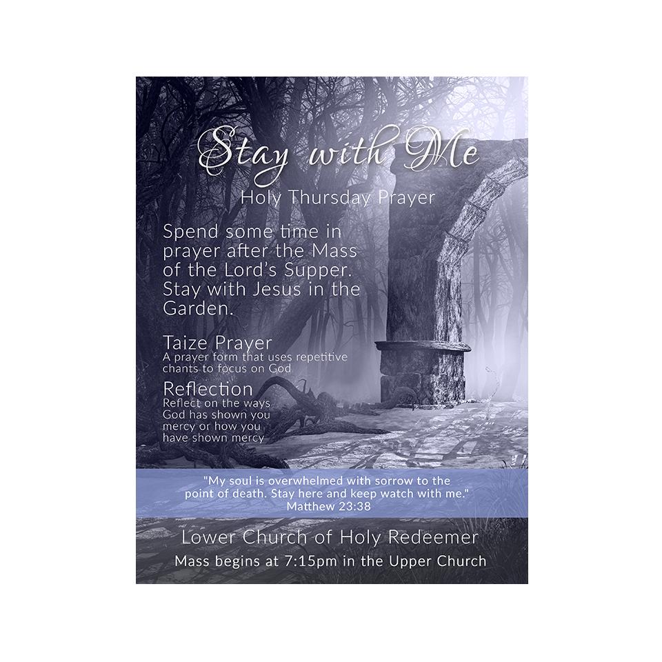 Flyer for Holy Redeemer Church