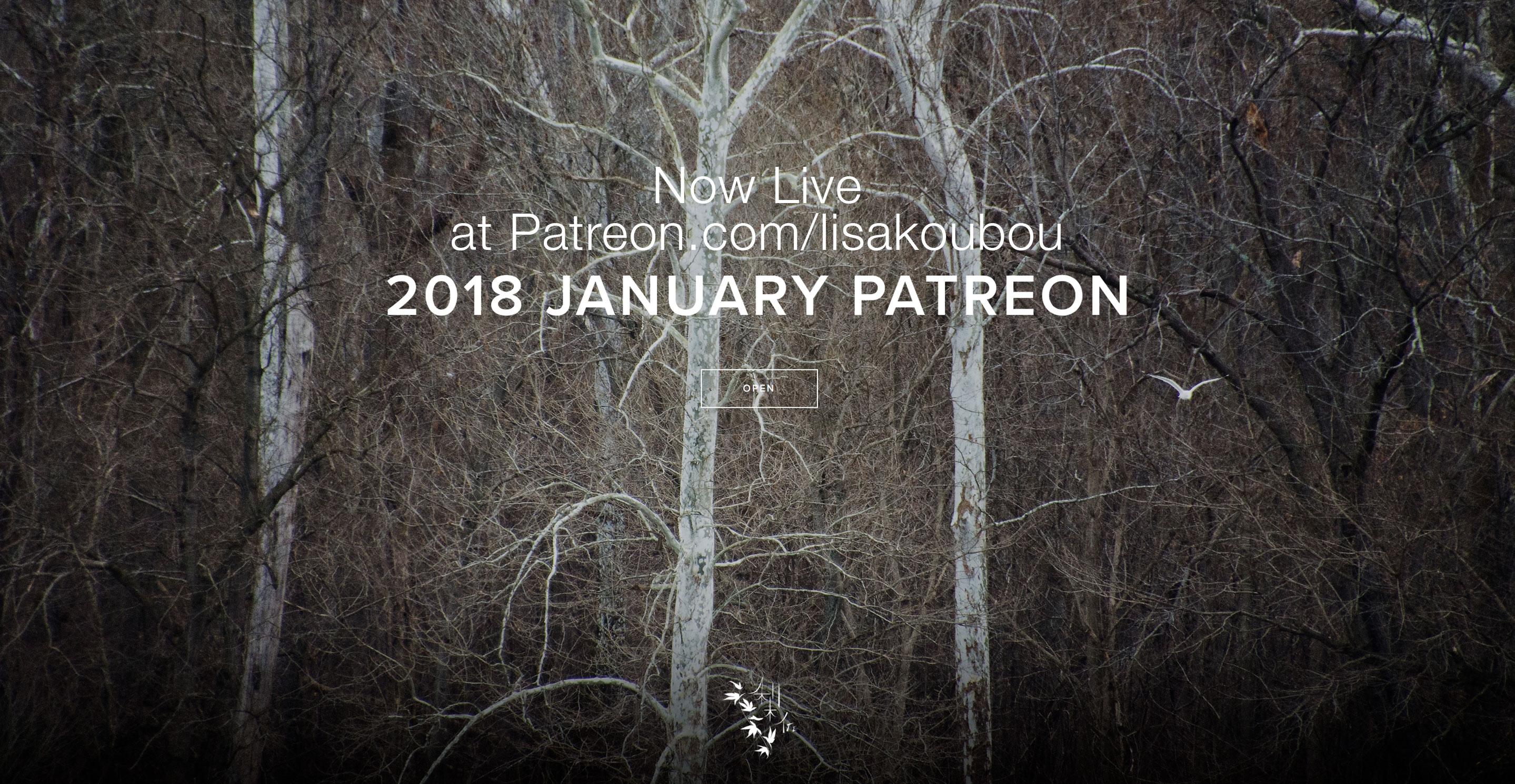 Tree line across from river Patreon image